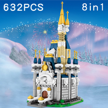632 pcs Anime Castles Building Blocks Compatible Girls Friends Princess Brick Educational DIY Toy For Childrens nuclear submarine building blocks sluban b0123 educational diy brick thinking toy for children compatible with legoes