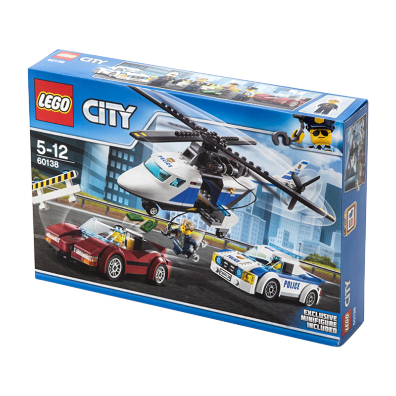 LEGO City 60138 Building Block Toy Compatible Legoing 3 IN 1 Police Helicopter Sports Car Educational Creative Gift For Children