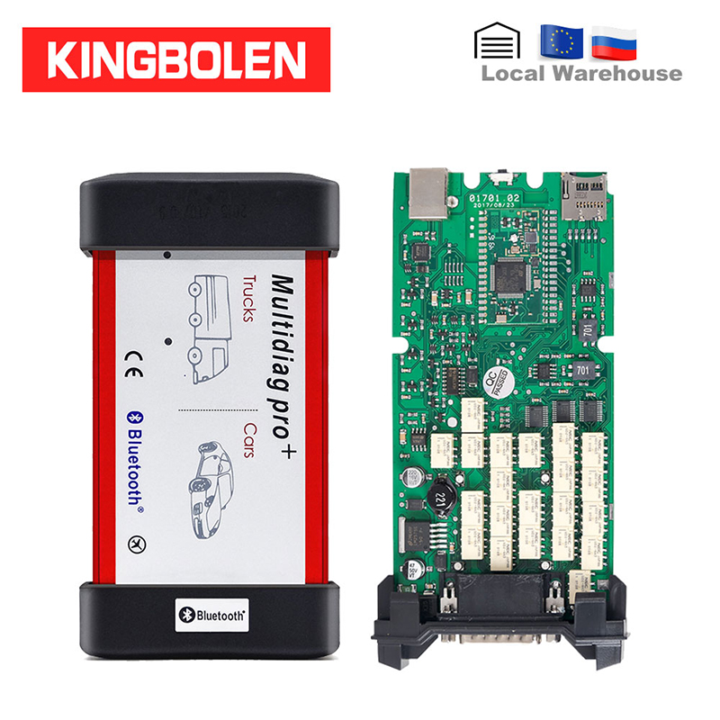 Multidiag Pro+ Vci 2016 R0 Keygen Single Green Board PCB OBDII Interface CAR/TRUCK Diagnostic Tool CDP TCS Auto Scanner