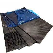 1 PCS 400 mm x 500 mm high composite hardness carbon fibre sheets plates Carbon Fiber Board for aircraft parts model materia