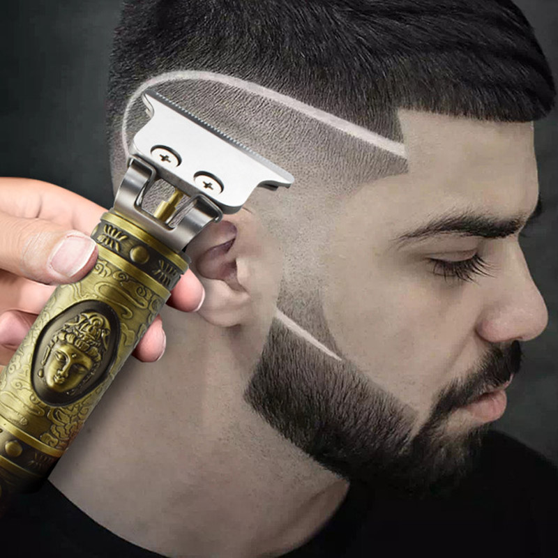 Electric Hair Trimmer Rechargeable Cordless For Men Beard Trimmer 0mm Baldheaded Hair Clipper Cutting Machine T9