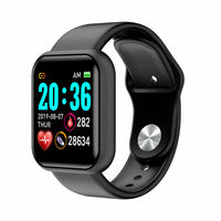 D20 Pro Smart Watch Y68 IP67 Waterproof Bluetooth Fitness Tracker Sports Watch Heart Rate Wristband for IOS Android