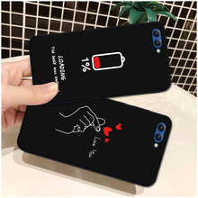 Fashion Art Heart Leaf Black TPU Case For Huawei Honor V10 V20 Soft Back Cover Bumper Shell Pouch