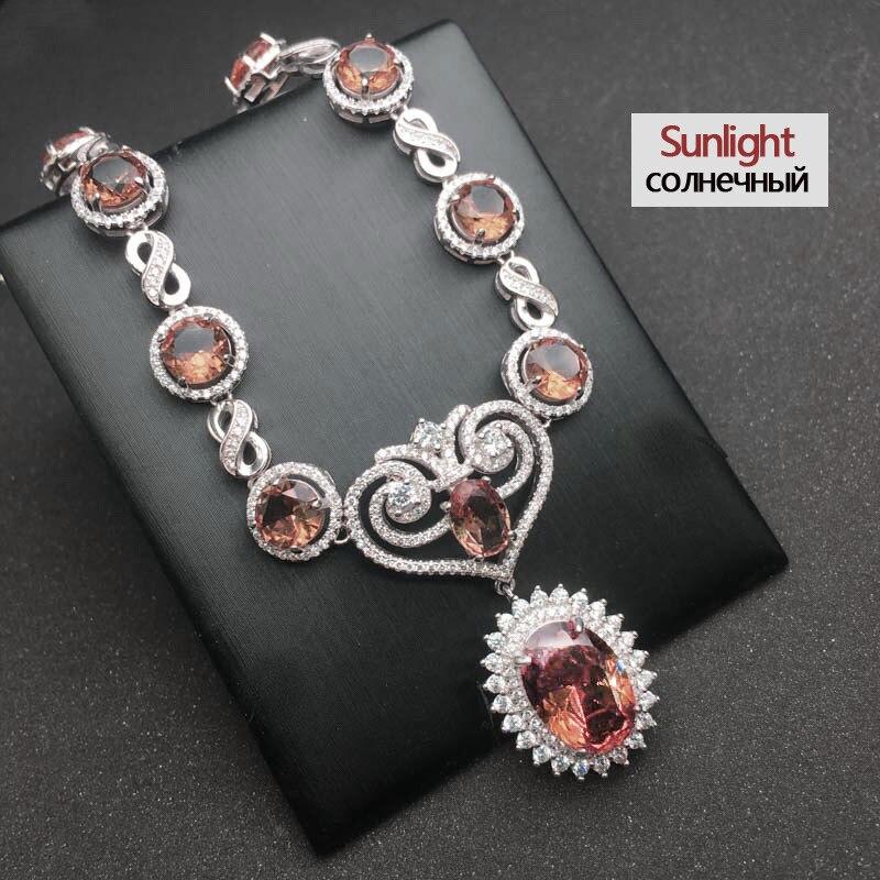 CSJ luxe élégant Zultanite collier en argent Sterling 925 créé Sultanite pendentif changement de couleur bijoux fins pour les femmes