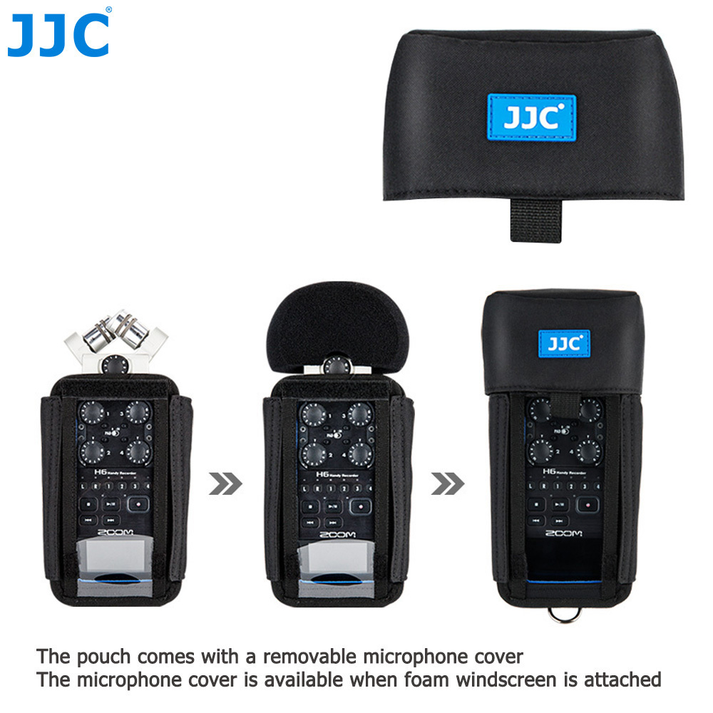 JJC Camera Holder Record Pouch for Zoom Records H6 H5 H4n H4n Pro Handy Video Digital Recorder Protector Accessories Soft Bag