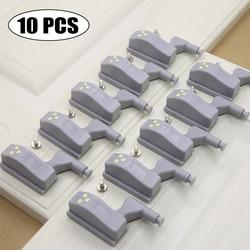 10 pçs led interior dobradiça lâmpada sob luz do armário universal guarda-roupa sensor de luz lâmpadas armário cozinha quarto luz da noite