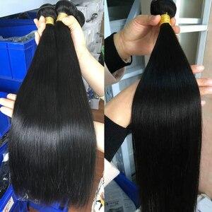 Image 4 - Satai mechones de pelo liso con cierre, extensiones de pelo ondulado mechones brasileños de 8 38 pulgadas, extensiones de cabello humano mechones con cierre, extensión de cabello