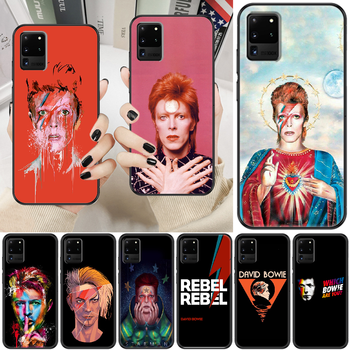 Rock David Bowie Phone case For Samsung Galaxy Note 4 8 9 10 20 S8 S9 S10 S10E S20 Plus UITRA Ultra black pretty hoesjes fashion image