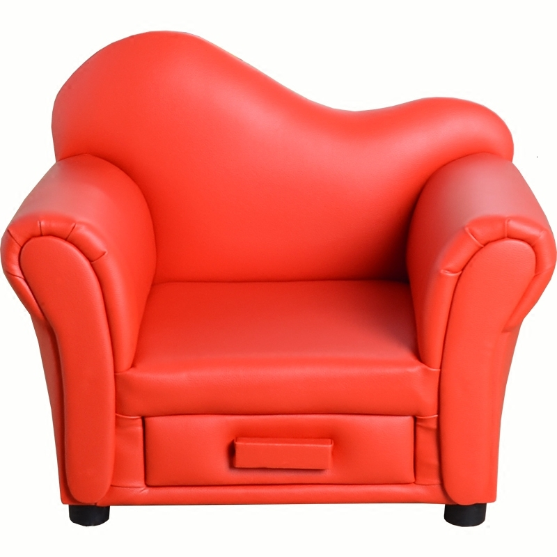 Lovely Gules Leather Many Function Baby Small Sofa Kindergarten Children Sofa Chair Bean Bag Kids Bedroom Zitzak 10kg
