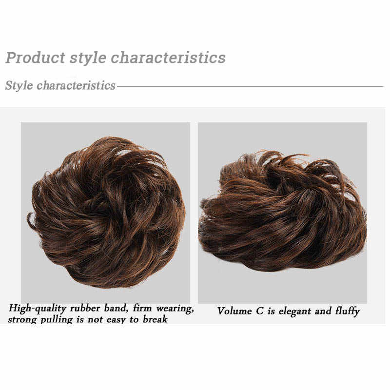 LIHUI syntetyczne kręcone włosy Bun kobiety akcesoria do włosów Scrunchie włosów koło naturalne fałszywe włosy Bun rozszerzenia pączek włosów Chignons