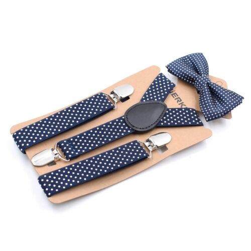 Children Suspender Clip Bow Tie Body Suit Causal Fashion Formal Dot Cute Toddler Kids Set Boy Baby Girl Party