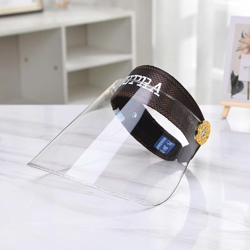 Women Anti Uv Hat Transparent Wide Brim Sun Hat Fashion Summer Clear Topless Plastic Visor Cap Face Sheild Safe Virus Protection