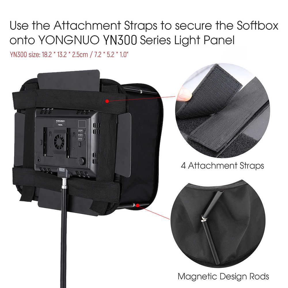SB600 Lipat Studio Softbox Diffuser untuk Yongnuo YN600 YN600L II YN600S YN600RGB YN600AIR YN900 Lampu Video LED Panel