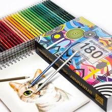 Brutfuner 48/72/120/160/180 Цвет s Набор карандашей на поверхность специальное масло для Цвет карандаши Дерево/мягкий карандаш для школы рисовать прина...