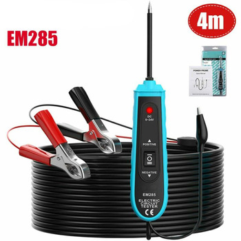 цена на EM285 6-24V DC Power Probe Car Electric Circuit Tester Automotive Tester With 5m Cable Premium Car Accessory
