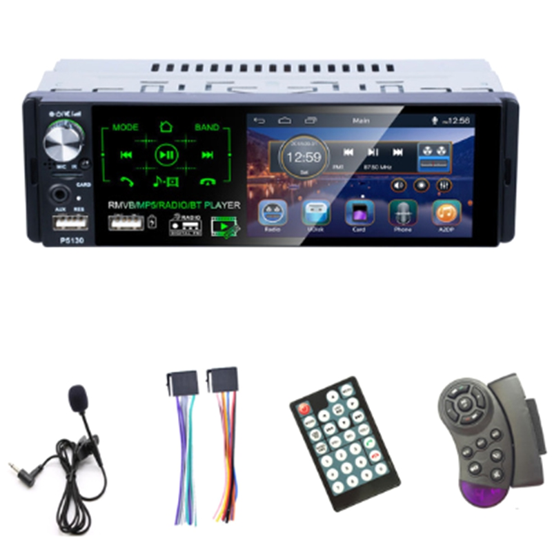 Autoradio 1 Din Car Radio 4.1 Inch Press Screen Car Stereo Multimedia MP5 Player Bluetooth RDS Dual USB Support Micphone