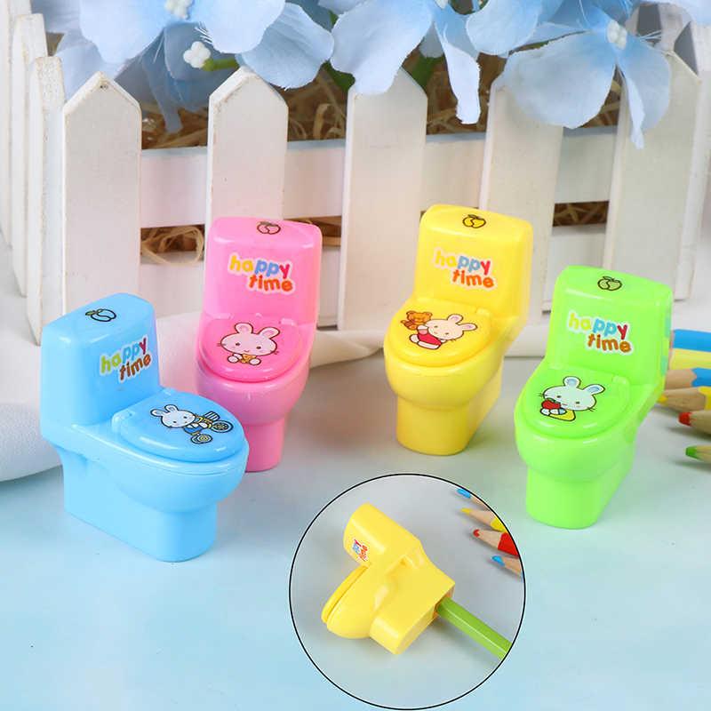 1pc Creativo Wc Temperamatite Coreano Per Bambini di Cancelleria Forniture Matita Cutter Regalo Promozionale