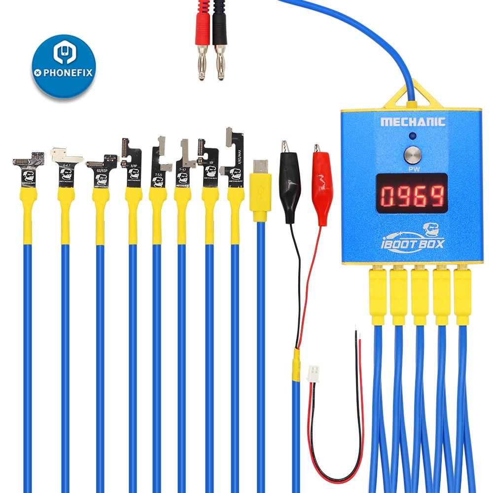 ميكانيكي iBoot صندوق أندرويد تيار مستمر امدادات الطاقة اختبار كابل الهاتف المحمول بطارية التمهيد خط اختبار الحبل لإصلاح آيفون سامسونجمجموعات أدوات يدوية   -