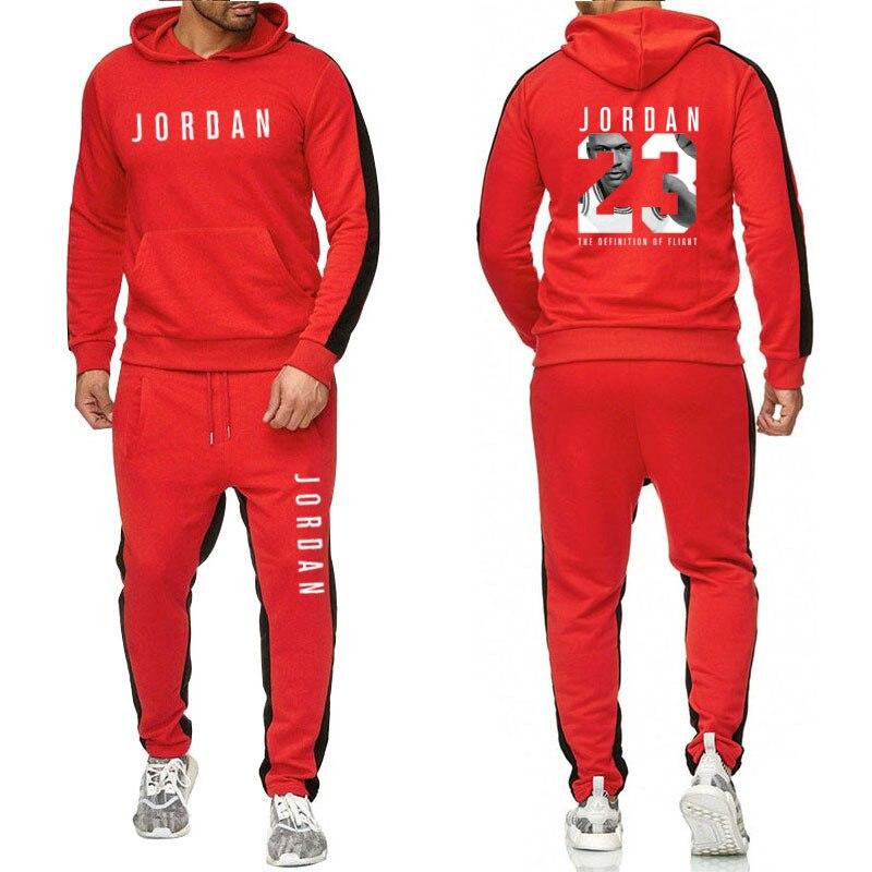 Jordan 23 Sport Suit Hoodie Hooded Men Cotton Sweatshirts Mens Casual Tracksuit