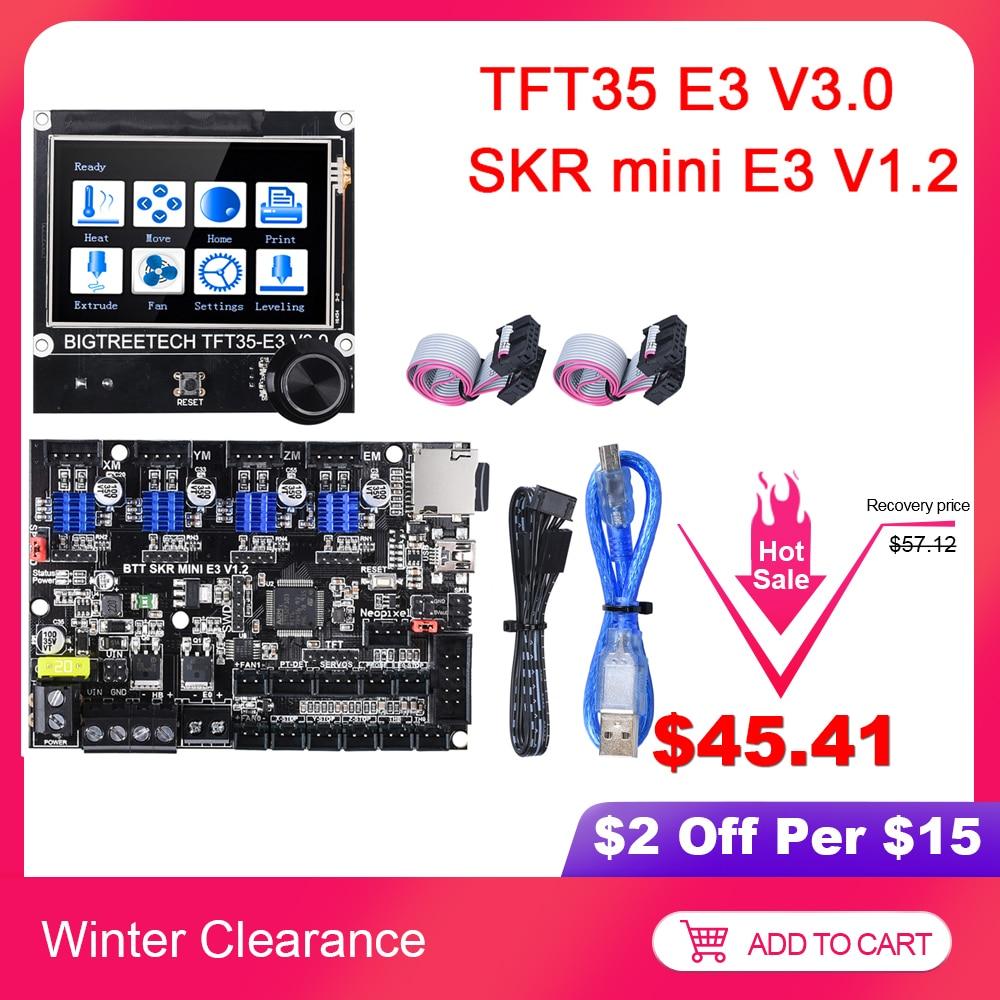 BIGTREETECH SKR Mini E3 V1.2 Control Board With TMC2209+TFT35 E3 V3.0 Touch Screen 3D Printer Parts For Ender 3 SKR V1.3 TMC2208