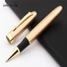 JINHAO X450 Light Gold Color Business office Nib Medium Rollerball Pen New