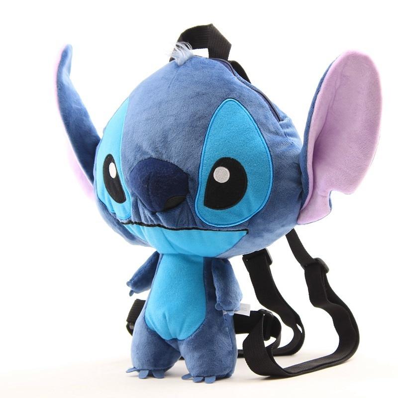 2019 New Lilo Stitch Plush Dolls Backpack Cute Blue Pink Stitch Angel Peluche Schoolbag Gift for Baby Kids Boys Girls Children (2)