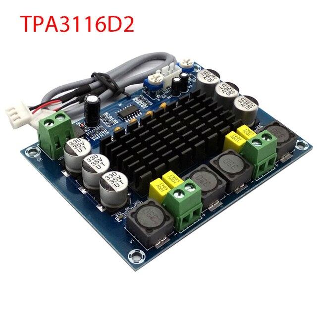 Nuevo Amplificador de potencia de Audio Digital TPA3116 de doble canal estéreo de alta potencia TPA3116D2 amplificadores 2*120W Amplificador DIY