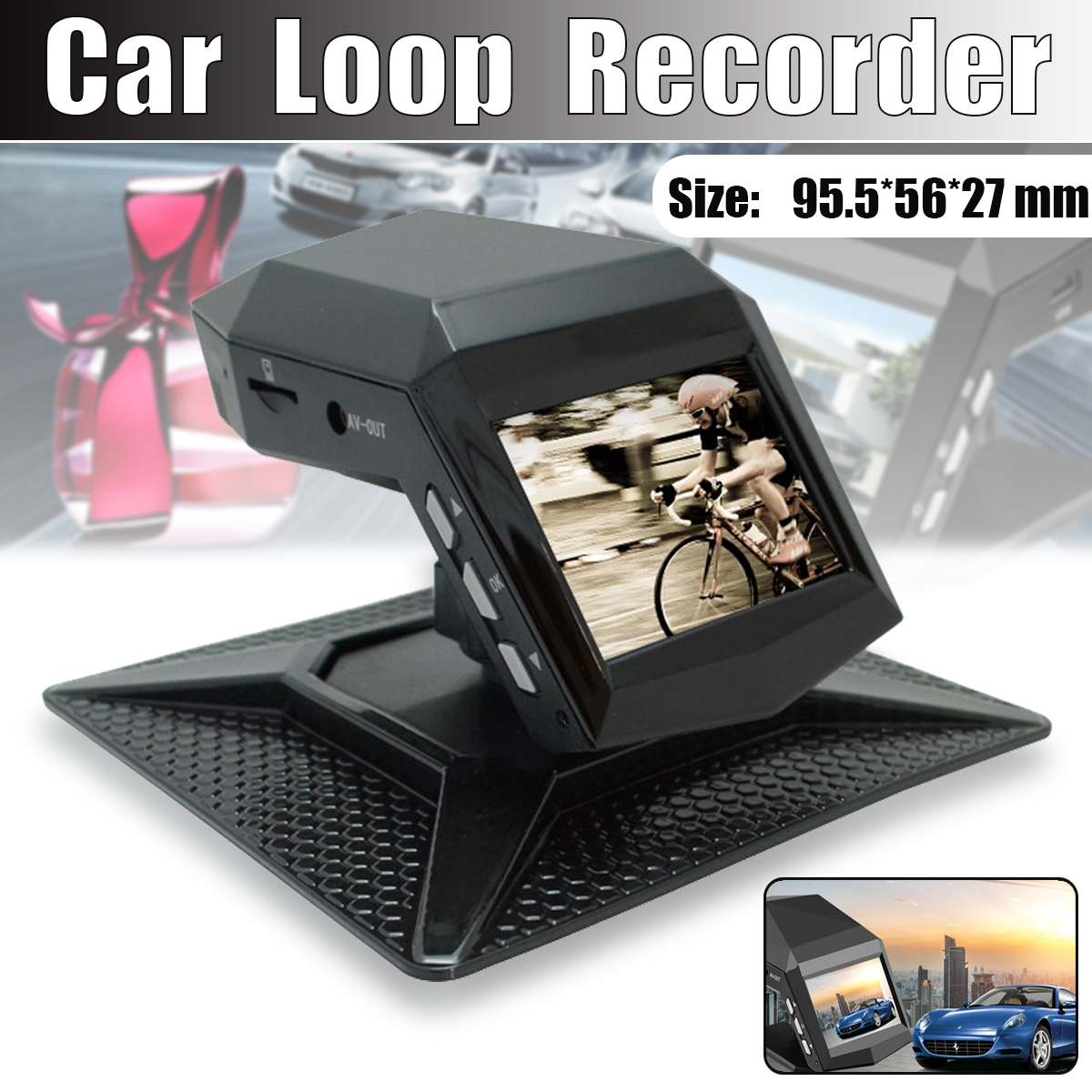 1080p Car DVRS Dash Cam The Central Console Does Not Install Perfume Traffic Recorder Night Vision Car Video Recorder