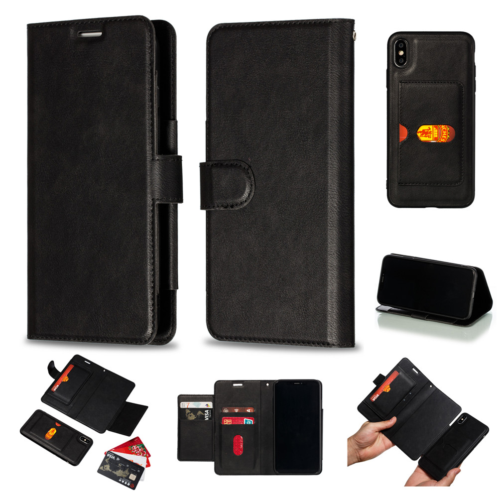 Retro PU Leather Case iPhone 7 6 6S 8 Plus Case iPhone X XS Max XR Case Cover Detachable 2 in 1 Multi Card Wallet Phone cases63