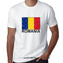Men T shirt Romania Flag - Special Vintage Edition funny t-shirt novelty tshirt women(China)