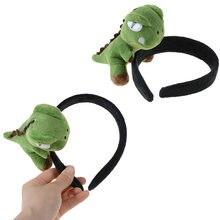Heißer Verkauf Schöne Mädchen Plüsch Dinosaurier Hairband Haarnadeln Elastische Haar Bands Stirnband Party Kopfschmuck Headwear Haar Zubehör