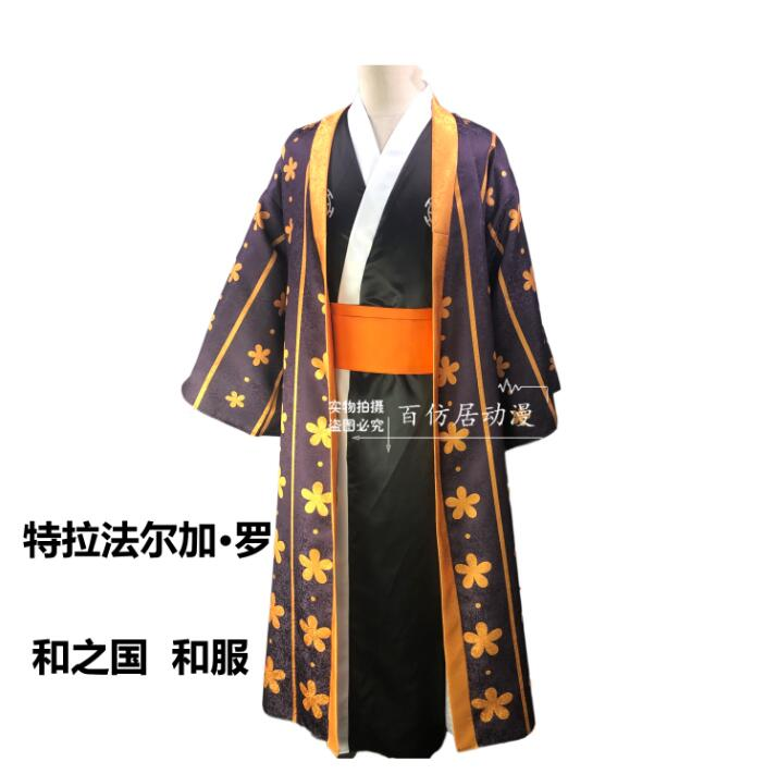 Japanese Bathrobe Anime ONE PIECE  Trafalgar Law Trafalgar D Water Law Cosplay Costume Custom Made  Kimono