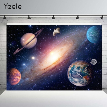Yeele Earth Universe Space Planet Solar System Starry Sky Baby Shower Birthday Backdrop Photography Background For Photo Studio