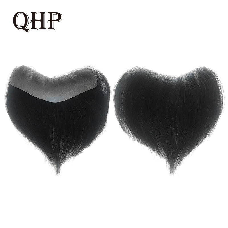 Men's Hairline Toupee V Loop Brazilian Remy Human Hair Toupee 0.12-0.14mm Thin Skin Mens Hairpieces Hair Replacement System