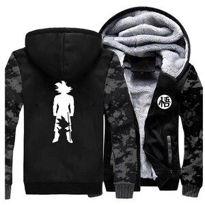 Image 2 - 2019 Thick hoodies Print cartoon Goku dragon ball Brand Coat Harajuku Streetwear Fashion hoodie sweatshirts Fleece Warm Hoody