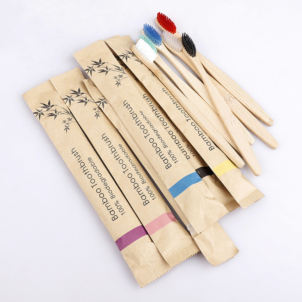 300 <font><b>packs</b></font> <font><b>bamboo</b></font> charcoal Soft <font><b>Toothbrushes</b></font> Eco friendly recyclable <font><b>pack</b></font> Biodegradable Vegan Oral Care Tooth brush customsize image