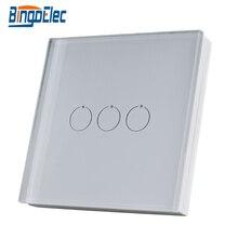 Bingoelec 3 כנופיית מרחוק משדר קיר מתג אלחוטי זכוכית פנל בקר RF 433.92 MHZ מגע אור מתג