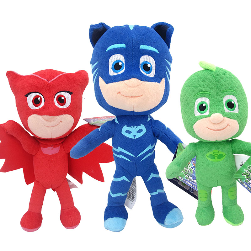 20CM PJ MASKS Catboy Owlette Gekko Romeo Cartoon Collection Figures Children PJ Masks Plush Doll Juguete Kids Birthday Gifts Toy