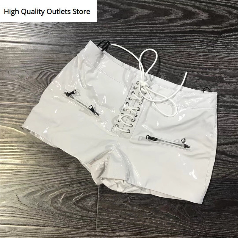 Real Leather Shorts Lady Genuine Leather Shorts Fashion Women Real Leather Shorts
