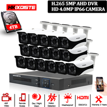 HKIXDISTE HD 16CH DVR Kit 4.0MP Sicherheit Kamera CCTV System 16PCS AHD 4MP 6 array Kamera Outdoor Wetter Überwachung set