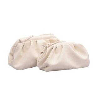 Image 5 - Einfarbig Elegante Umhängetaschen Für Frauen 2021 Kleine Kupplung Weibliche Partei Handtaschen und Geldbörsen Dame Schulter Einfache Tasche