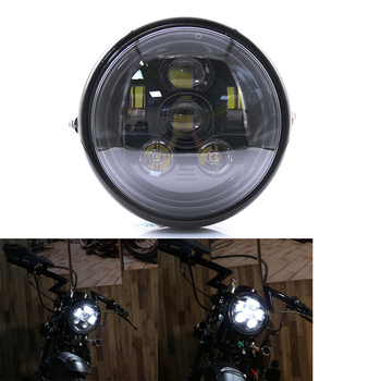 Round LED Motorcycle Headlight 7 Inch High Low Beam Led Headlight Headlamp For Yamaha V-star 650 1100 Road Star