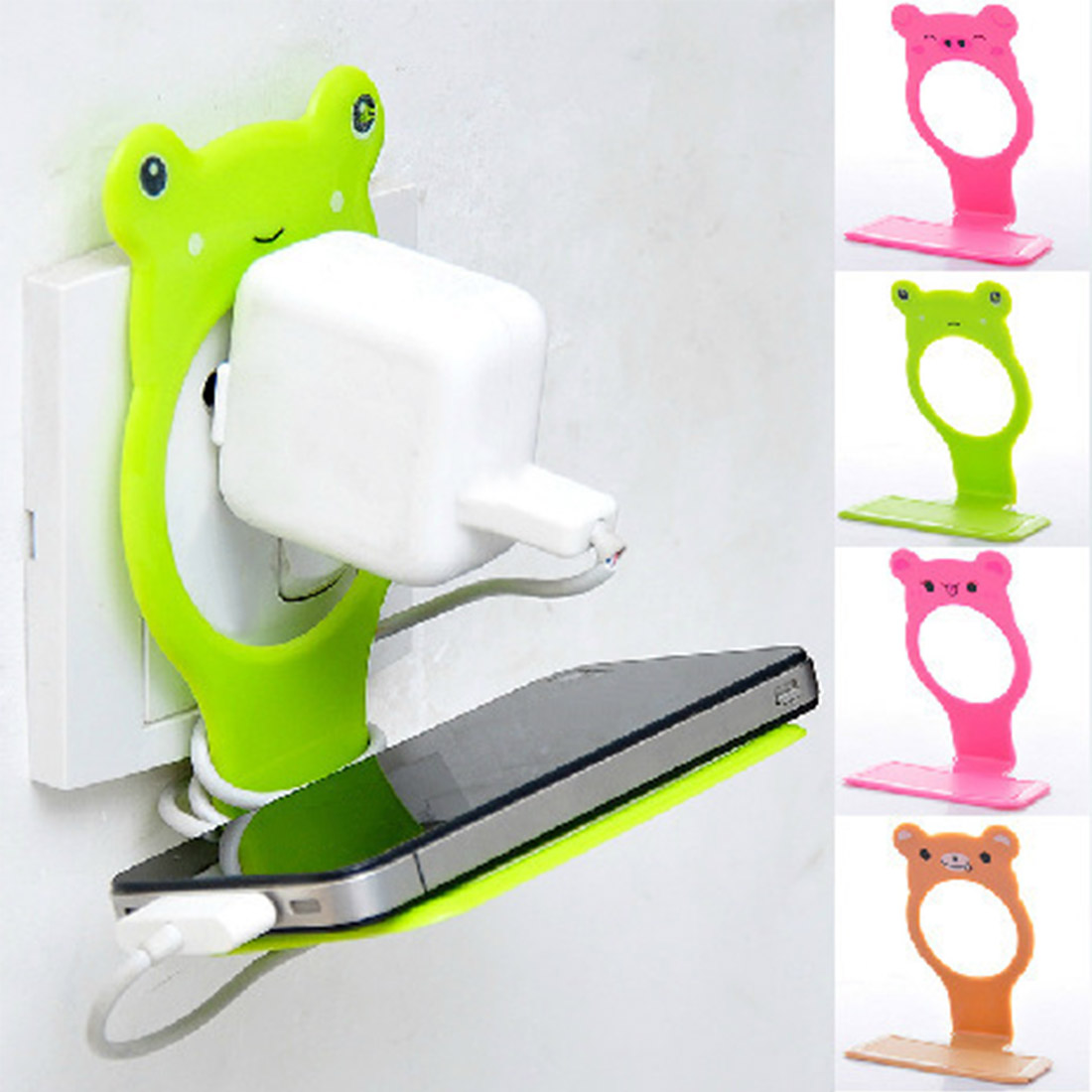 Mobile Phone Holder Hangs Wall Charging Holder For Tablet Cellphone For IPhone X 8 SE Stand Support For Samsung S9 Plus Xiaomi 8