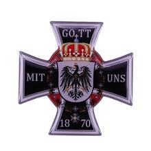 GOTT MIT UNS – badge de la croix de commande allemande, médaille de la brousse, de l'allemagne, de l'aigle Reich, 1870