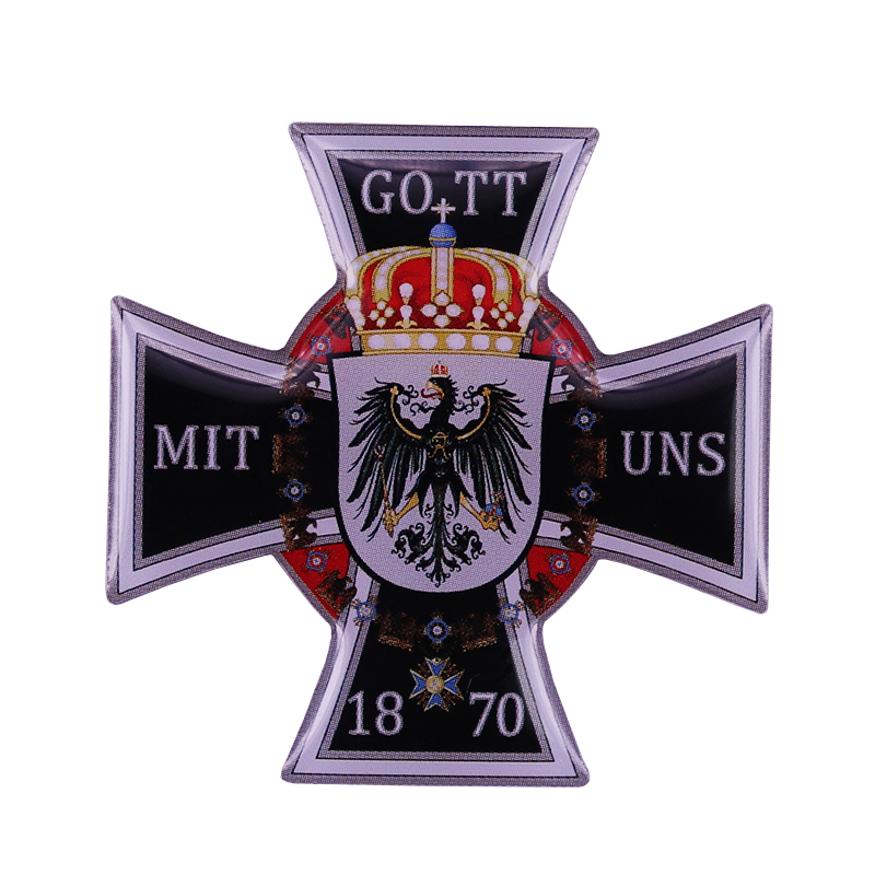 GOTT MIT UNS allemagne prusse médaille ordre croix insigne 1870 allemand aigle Reich badge