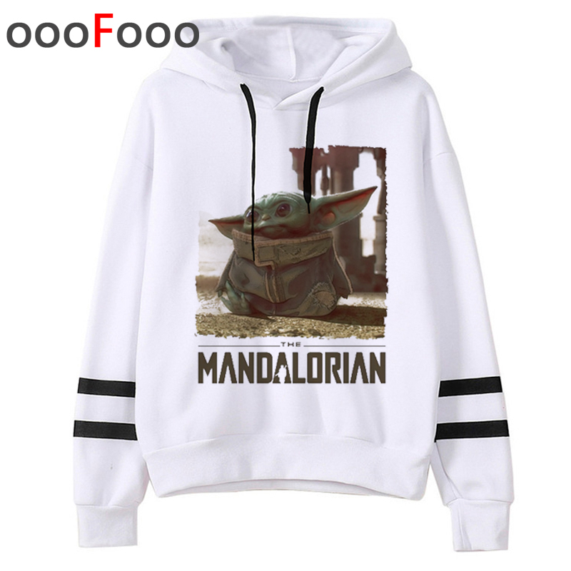 2020 The Mandalorian New Movie Funny Cartoon Hoodies Men Kawaii Baby Yoda Star Wars Sweatshirt Hip Hop Streetwear Hoody Male