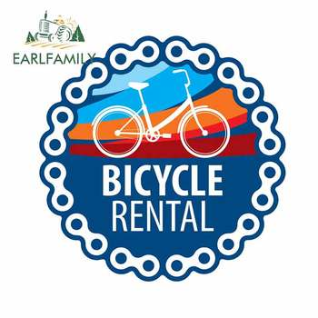 EARLFAMILY 13cm x 12.9cm Fo Bicycle Rental Motorcycle Car Stickers Personality Creative Decal Bumper Decoration Sunscreen image
