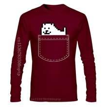 Undertale Dog Pocket -Sleeved Tagless Tee T-Shirt Custom Mens T Shirt Casual Printing Round Collar Mens Tshirt Clothing