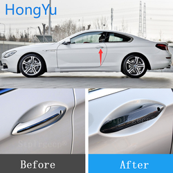for BMW 6 series F06 F12 F13 G32 2011-2017 Auto Exterior Carbon Fiber Made Door Handle Cover Sticker Decorations Overlay Trim