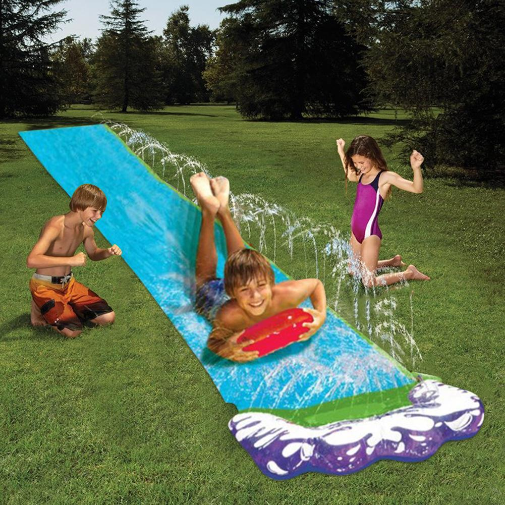 4.8m Surf Water Slide Fun Lawn Water Slides Pools For Kids Summer PVC Games Center Backyard Outdoor Children Adult Toys